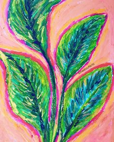 Made a plant-tastic mess with some oil pastels!  #art #illustration #design #drawing #colorful #plants #leaves #oilpastel #nature #garden #graphic #artist #sketchbook #palette #