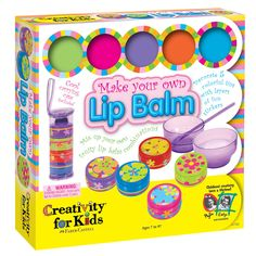 Mix up your own fruity lip balm combinations! The Make Your Own Lip Balm Kit for children includes everything you need to make 5 different pots. Tween Girl Gifts, Gifts For Boys, Tween Girls, Make Your Own, Make It Yourself, How To Make, Hobbies And Crafts, Crafts For Kids, Princess Party Games