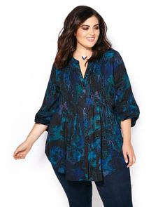 One of Melissa's signature styles, this gorgeous plus-size blouse from…