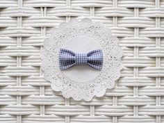 Blue Gingham Bow by RicheyandRoo on Etsy, $3.00