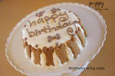 dog birthday party, dog birthday cake, organic dog carrot cake