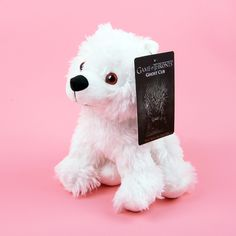 Game of Thrones wolf stuffed toy Jon Snow Ghost direwolf Plush doll toys Stuffed  #christmasgiftformom