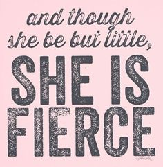 she is fierce. Putting this in my baby girls room for sure!!! ✔