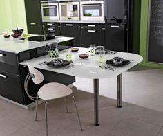 1000 images about un coin repas dans la cuisine on - Cuisine en u avec coin repas ...