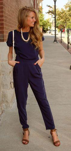 blue-jumpsuit-with-brown-sandals via