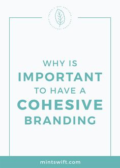 Find out the why is important to have a cohesive branding. See the 4 reasons to have a coherent brand design for your small business Creative Business, Business Tips, Online Business, Brand Identity, Visual Identity, Marketing Materials, Media Marketing, Business Checks, Creating A Brand