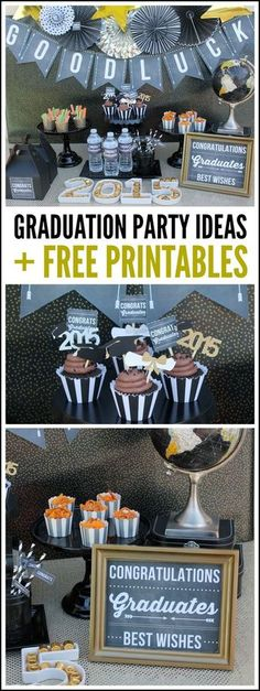 Awesome graduation party ideas + free printables | CatchMyParty.com