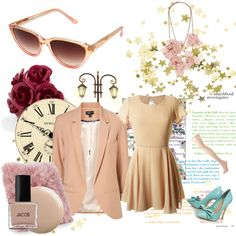 Pink and Beige, created by annorexorcist.polyvore.com