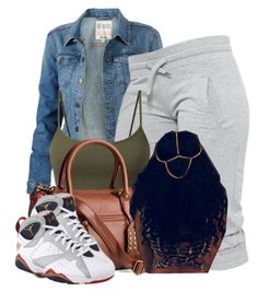 """""""Running errands"""" by trillest-princess101 ❤ liked on Polyvore featuring Fat Face, H&M and Retrò"""
