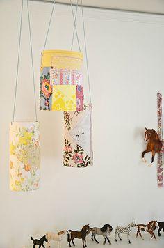 so cute diy paper patchwork lanterns