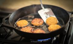 Paleo Salmon Cakes {I just used 2 eggs and then added a tbsp of Coconut Flour}