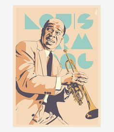 "Louis Armstrong (1901-1971)  - Jazz-   ""The genius of the improvisation"""