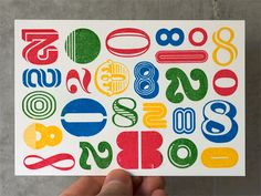 Colorful letterpress play
