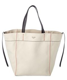 Celine Medium Cabas Phantom Canvas Tote In Natural Tote Bags, Celine Tote Bag, Crossbody Bag, Hermes Handbags, Purses And Handbags, Classic Handbags, Linen Bag, Fabric Bags, Big Bags