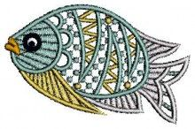 Cute Fish Lace Embroidery free designs download for an embroidery machine