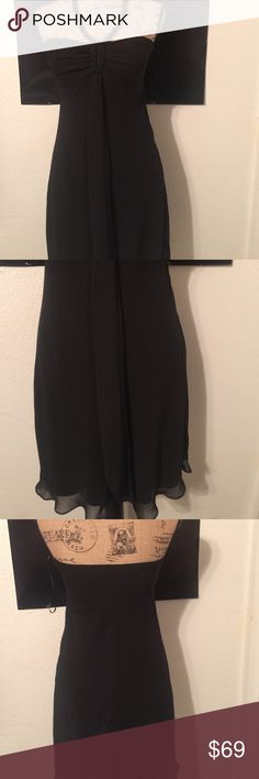 """White House Black Market LBD NWOT size 4 made of 100% polyester it is a dry clean item necklace is attached with a hook it measures 15.5"""" flat underarm to underarm and it measures 29"""" long measured from the center of the back to the hem White House Black Market Dresses Strapless"""