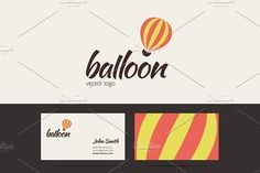 Air balloon logo template. by zaniman on @creativemarket