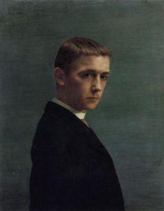 Felix Vallotton, Self portrait (20 years old), 1885, oil on canvas.