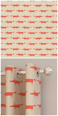 Fantastic Mr Fox fabric perfect for an orange room.