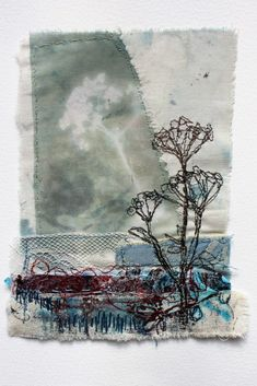 Cas Holmes: Blue sky thinking. Creating Texture in Stitch on Textilartist Free Motion Embroidery, Crewel Embroidery, Machine Embroidery, Embroidery Designs, Fine Art Textiles, Creative Textiles, Cas Holmes, Fabric Journals, Art Journals