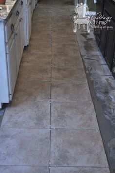 laying first--rows=tile- in kitchen DIY