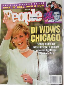 June 17 1996 People Magazine Princess Diana Wows Chicago Lady Di Elvis Presley | eBay
