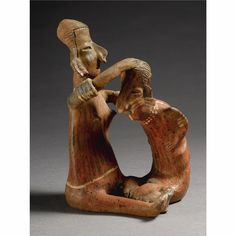 A Nayarit Seated Joined Couple,<br>Protoclassic, ca. 100 B.C.-A.D. 250 | Lot | Sotheby's