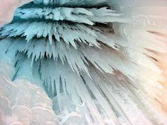 ice, blue, white