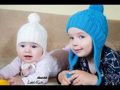 схема шапки спицами Как связать шапку спицами  - детская шапочка спицами