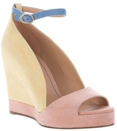 Shop Women's See By Chloé Wedges on Lyst. Track over 315 See By Chloé Wedges for stock and sale updates. Chloe Wedges, Chloe Shoes, On Shoes, Me Too Shoes, Color Blocking, Colour Block, Designer Sandals, Uk Fashion, Fashion Essentials