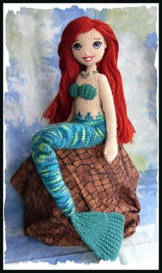 Mermaid Hand Knitted Doll with Red Hair OOAK von maryholstad Merma. Mermaid Hand Knitted Doll with Red Hair OOAK von maryholstad Mermaid Hand Knitted Doll with Red Hair OOAK . Knitted Doll Patterns, Knitted Dolls, Crochet Patterns Amigurumi, Baby Knitting Patterns, Amigurumi Doll, Crochet Dolls, Free Knitting, Knit Crochet, Mermaid Crafts