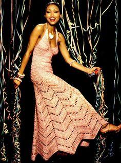 SALE  Vintage CROCHET Dress Pattern  Maxi Dress  by carolrosa, $2.05
