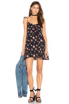For Love & Lemons Cherry Tank Dress in Cherry Noir