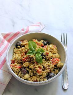 Fried Rice, Quinoa, Baking Recipes, Feta, Salad Recipes, Fries, Soup, Ethnic Recipes, Bulgur