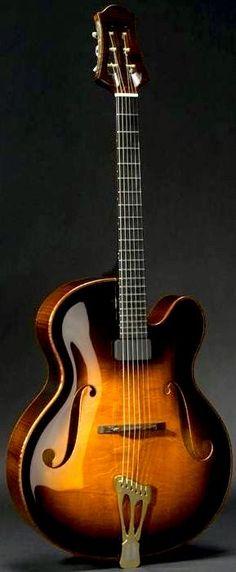 Scharpach Vienna Archtop Guitar ~ https://www.pinterest.com/lardyfatboy/