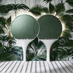 Double Kalos is a duo of basins intended for couples created by Italian architect and designer Massimo Iosa Ghini for Devon&Devon. Bauhaus, Devon Devon, Stellar Works, Wall Mounted Basins, Basin Design, Relax, Showcase Design, Round Mirrors, Contemporary Architecture