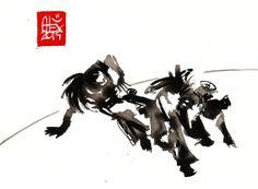 Encres : Capoeira – 649 [ #capoeira #watercolor #illustration]