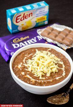Champorado with Cadbury Dairy Milk Chocolate and Eden Cheese