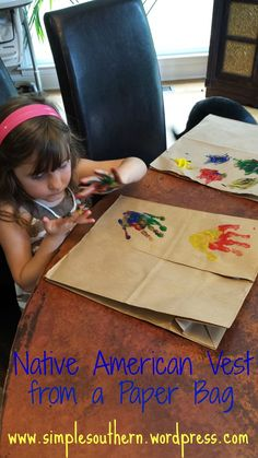 cheap easy craft for kids - learn about Native Americans