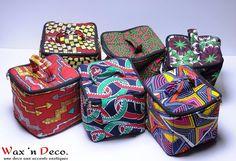 ♡WaxinDeco :: Vanity en Wax African Print Fashion, Fashion Prints, Afrika Festival, Ankara Bags, African Babies, African Crafts, African Accessories, African Design, Printed Bags