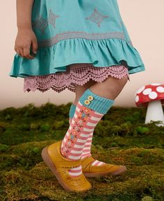 Matilda Jane~Once Upon A Time~R1 Grimms Knee High Socks, size M