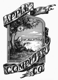 Apple Computer's first logo, which Wary Meyers has awesomely noticed and reminded us of.