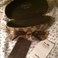 Coach sunglasses. Near new Selling Authentic Coach sun glasses in near new condition .   Item comes with case, booklet, and new glasses hanky .  No box Coach Accessories Glasses