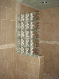 Half Wall Shower Design | ... An Addition, Some Glass Block Wall And