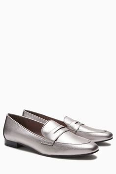Buy Pewter Penny Loafers from the Next UK online shop