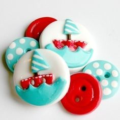 Sweet kiddo sailboat buttons