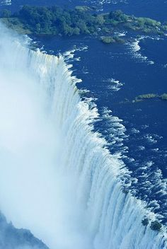 A must-see: as one of the seven world wonders the Victoria Falls are right around the corner / Zambia