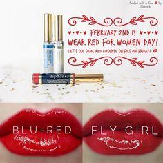 Heart Disease is the #1 killer in women! #WearRedForWomen #LipSense Sealed With A Kiss By Merrick