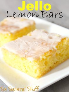 Jello Lemon Bars- if you love lemon, you're going to love these!