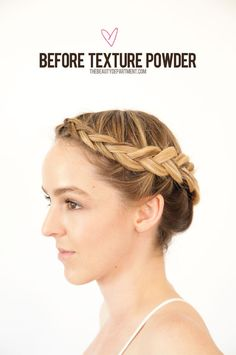 This braid is cute, but could be bigger. Read about texture powder and see our favorites on the website!